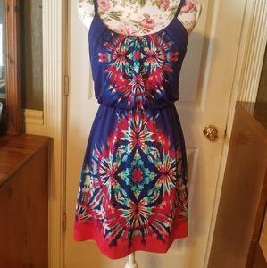 Small stiletto brand tie dye dress